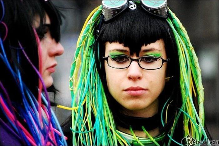 Киберготы и киберпанки. Фотографии девушек