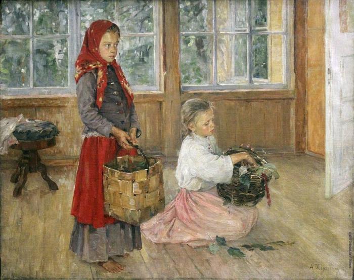 Alexey-Korzukhin-Дети-на-террасе-1887 (700x553, 330Kb)