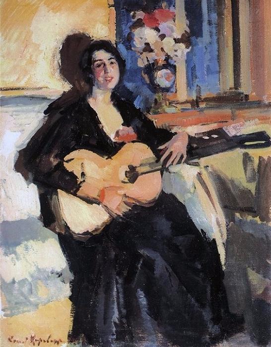 Дама с гитарой (1911) (546x700, 426Kb)