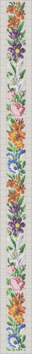 бордюр с синими цветами и лилиями стежки (64x700, 62Kb)