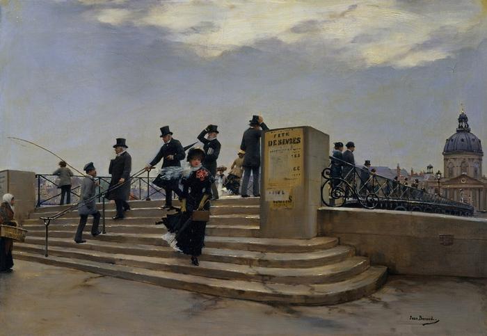 Jean_Béraud_A_Windy_Day_on_the_Pont_des_Arts (700x483, 154Kb)