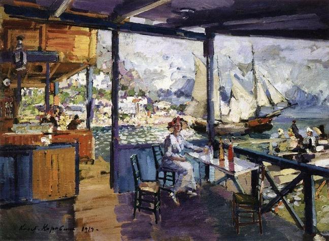 Пристань в Гурзуфе. 1914 (648x474, 429Kb)