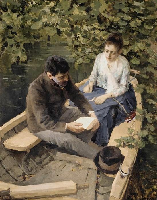В лодке. 1888 (548x700, 456Kb)
