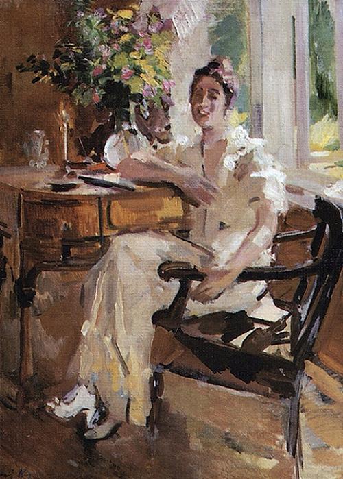 Дама в кресле. 1917. (500x700, 459Kb)