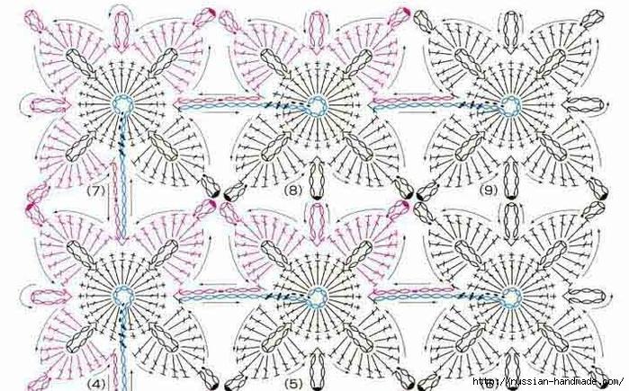 Декор длинного пуловера ажурным мотивом крючком (2) (700x435, 301Kb)