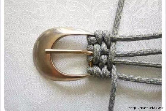 手工绳编教程:编织皮带扣 - maomao - 我随心动
