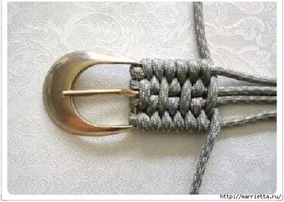 Плетение ремня на пряжке в технике макраме (4) (560x399, 136Kb)