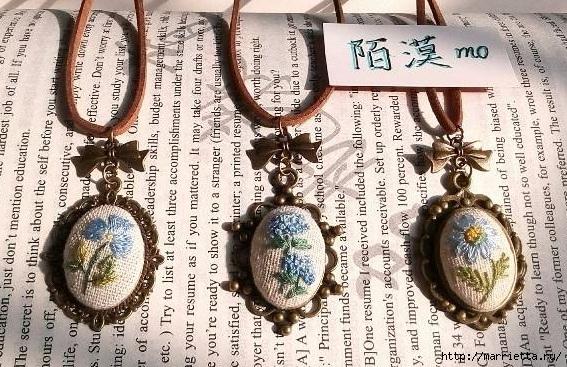 Медальоны с вышивкой (мастер-класс)