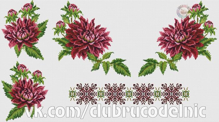 Сорочка Чаривна хризантема (700x391, 350Kb)