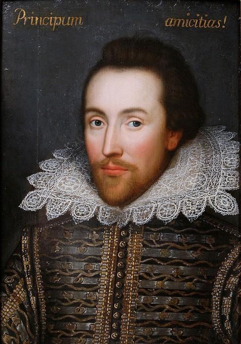 Обнаруженный в семейной коллекции портрет елизаветинца (1610). Некоторые искусствоведы утверждают, что это единственный прижизненный портрет Уильяма Шекспира (492x700, 132Kb)