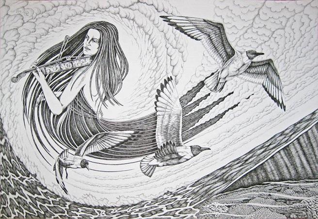 Скрипка и море. Диптих.. (656x453, 175Kb)