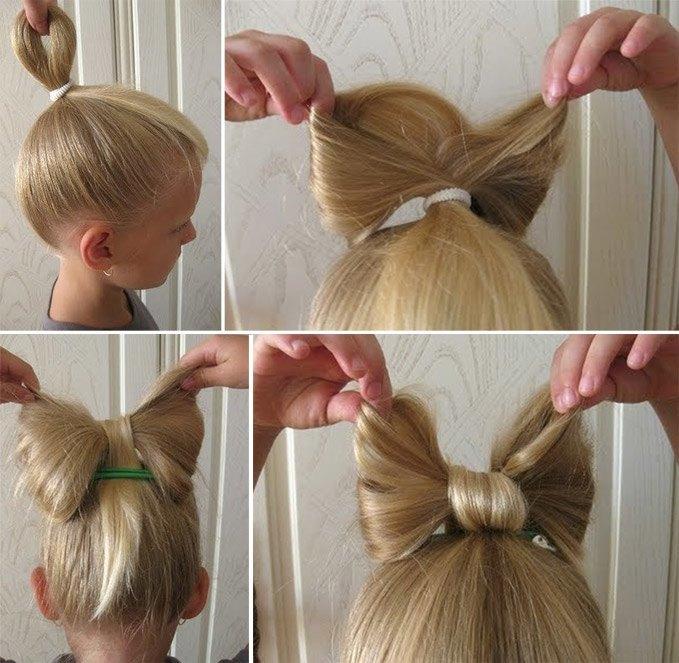 Как сделать хвост бант из волос