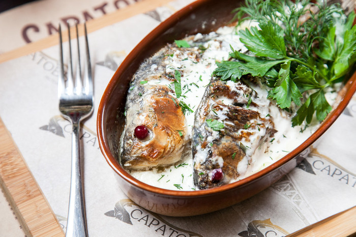 Блюда из сметаны и рыбы рецепты