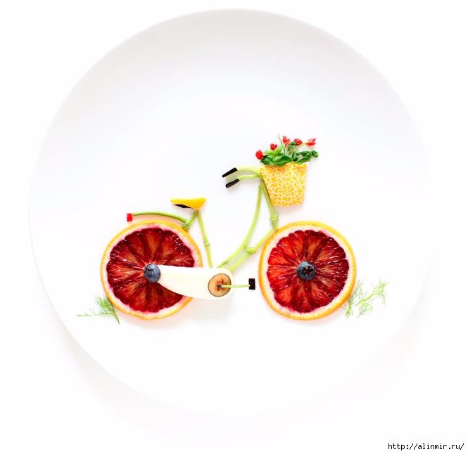 шедевры из остатков продуктов грейпфрукт петрушка дыня фенхель ягоды (665x646, 116Kb)