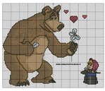 Превью вышивка маша Рё медведь 6 (564x488, 249Kb)