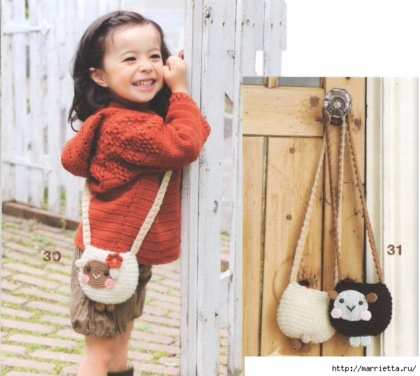 Крючком. Сумочка с овечкой для девочки (5) (601x538, 199Kb)
