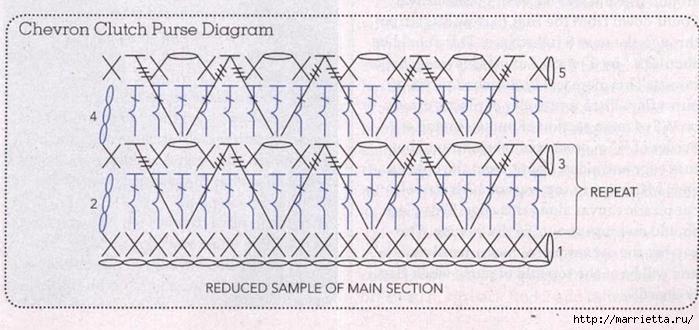 Модный клатч крючком. Схема (1) (699x330, 192Kb)