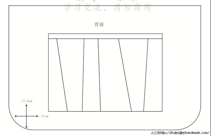 Лоскутная сумочка в технике пэчворк. Шаблоны (3) (688x444, 47Kb)