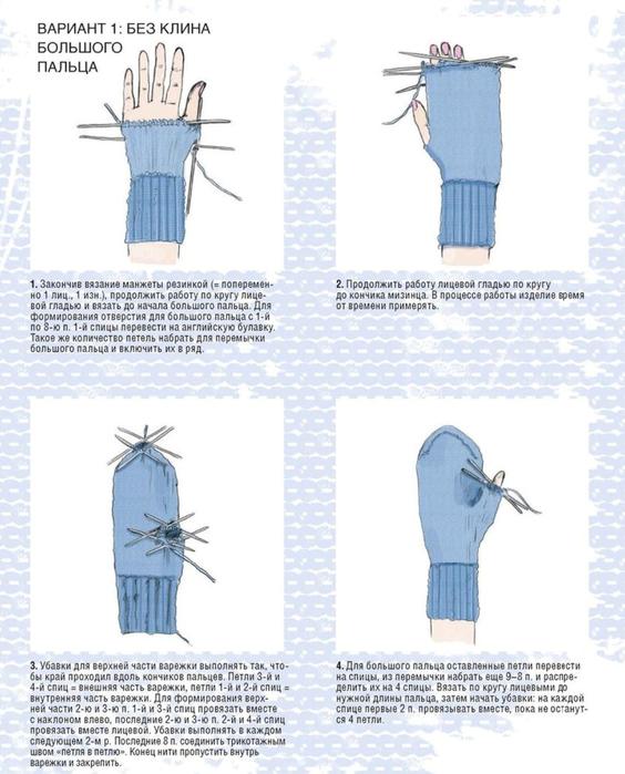 Как сделать отверстие для варежки - Solbatt.ru