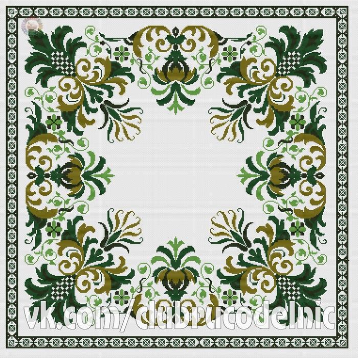 Серветка зелена (700x700, 678Kb)