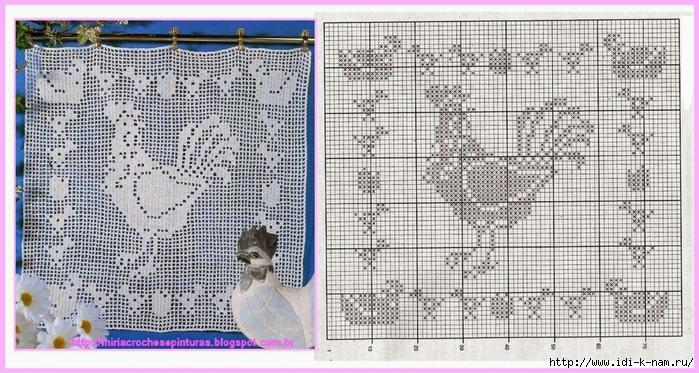 Блузки в филейном вязании