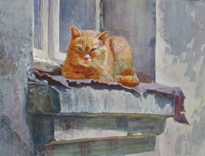 Назаренко Вера. Рыжий кот (700x531, 100Kb)