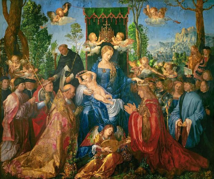 Праздник венков из роз (Праздник чёток)Национальная галерея, Прага (700x586, 177Kb)