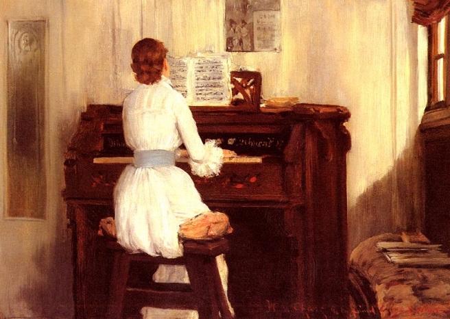 Миссис Мейгс за фисгармонией (656x466, 330Kb)