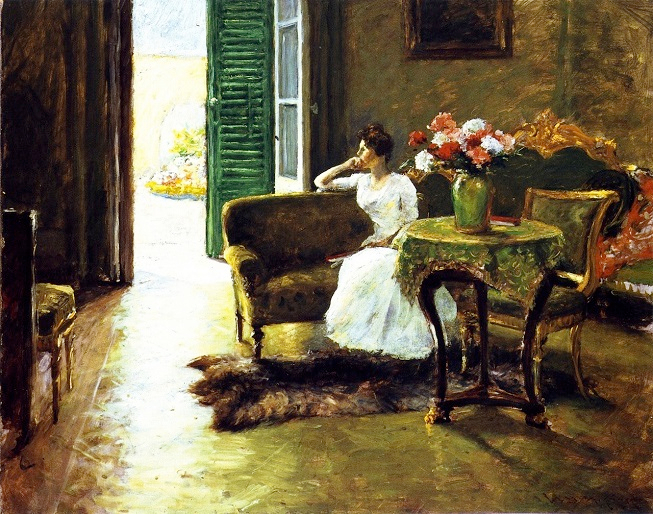 A Memory. In the Italian Villa, 1910 (653x514, 527Kb)