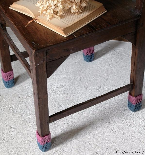Вяжем сапожки для ножек стула. Схема (2) (597x637, 326Kb)