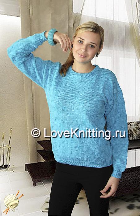 02 Авторск Бирюзовый пуловер МТ2 (453x700, 314Kb)