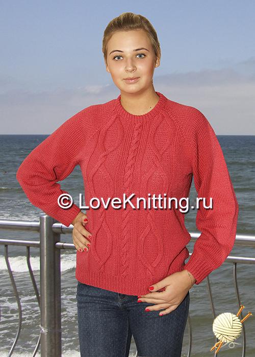 01 Автор Розовый пуловер 1 МТ2 (500x699, 365Kb)