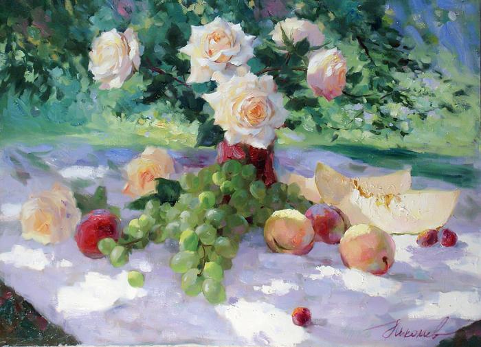 www.ArtsGallery.pro_Nikolaev_Yuriy_V_Nashem_Sadu_medium_235825 (700x505, 713Kb)