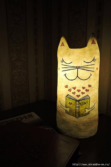 Куклы Майя, светильник Кот (1) (466x700, 198Kb)
