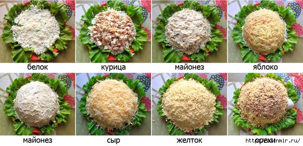 Салат черепаха с рыбными консервами пошаговый рецепт 153