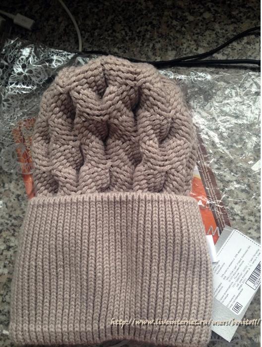 шапка из итальянской пряжи