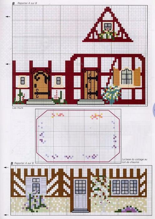 Вышивка пряничный домик схема 99