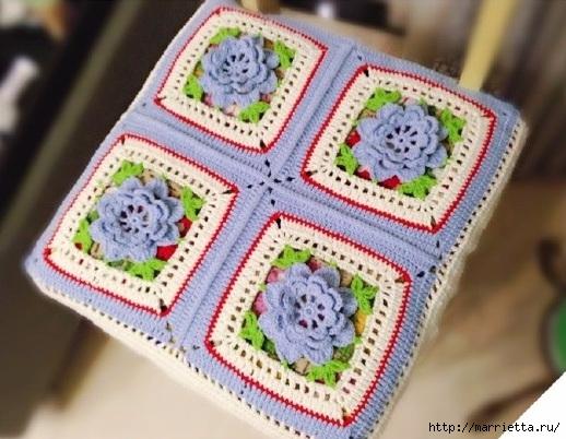 Чехол на табурет крючком цветочными мотивами (4) (518x402, 171Kb)