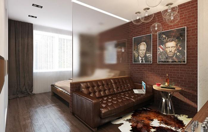 Деление пространства на зоны   красивая квартира!