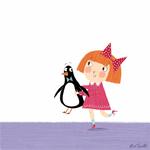 Превью little girl and penguin (700x700, 186Kb)