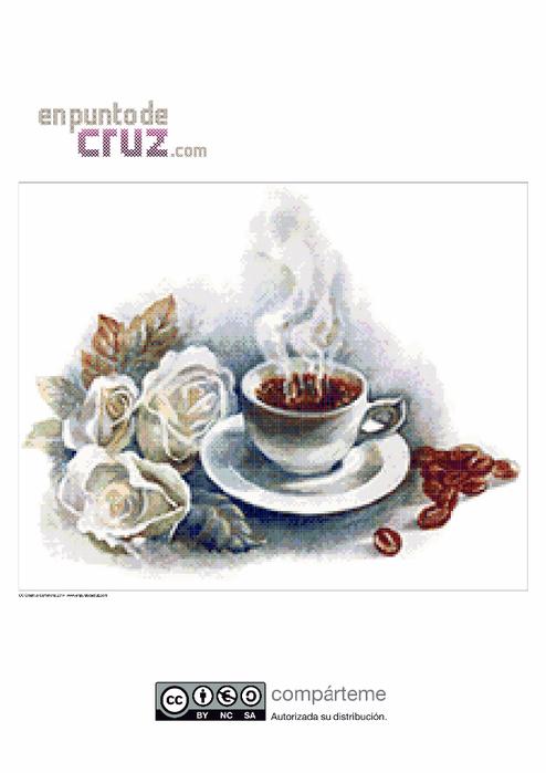 Схема вышивки чай кофе
