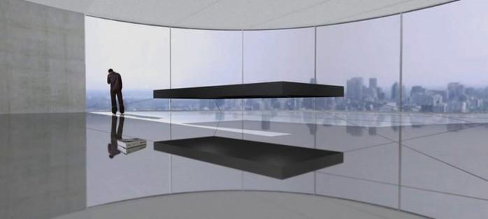 Диваны и кровати, парящие в воздухе (концепт)