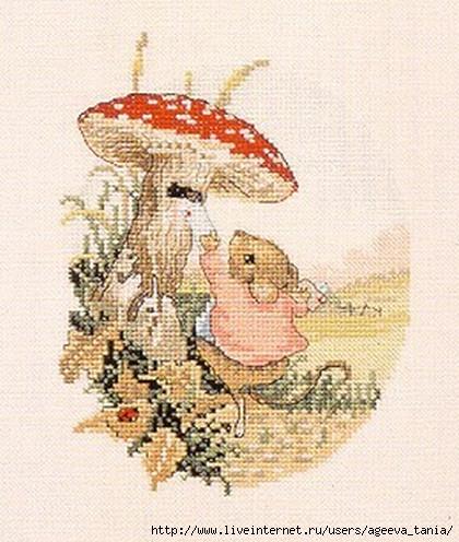 Вышивка мухоморы схема