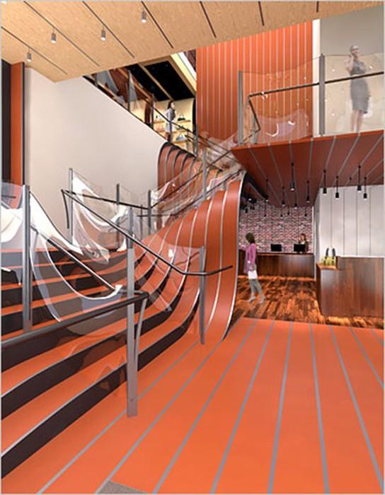 Идеи красивых и необычных лестниц   креатив под носом