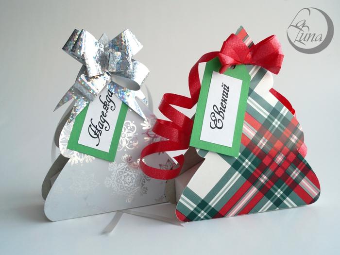Новогодние подарки коробочки своими руками