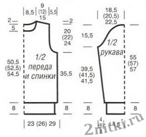 Вязаные кофты спицами схемы и выкройки