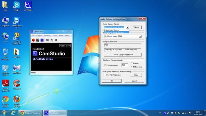 Бесплатная программа CamStudio для захвата видео с монитора