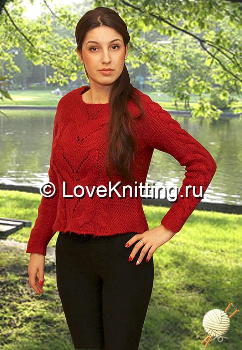 02 Автор Пуловер с косами МТ2 (485x700, 408Kb)