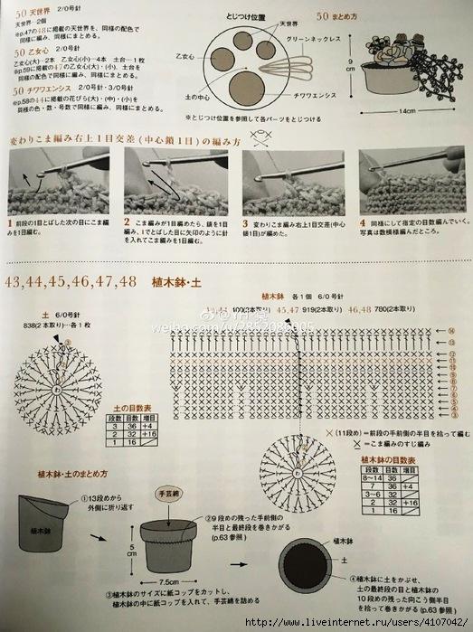Схема вязания кактуса 84