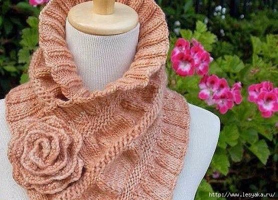 Красивые шарфы — воротники, вязанные своими руками!